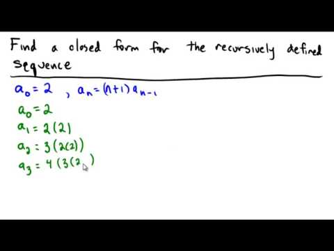 Finding a closed form from a recursively defined sequence
