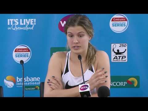 Eugenie Bouchard press conference (1R) | Brisbane International 2017