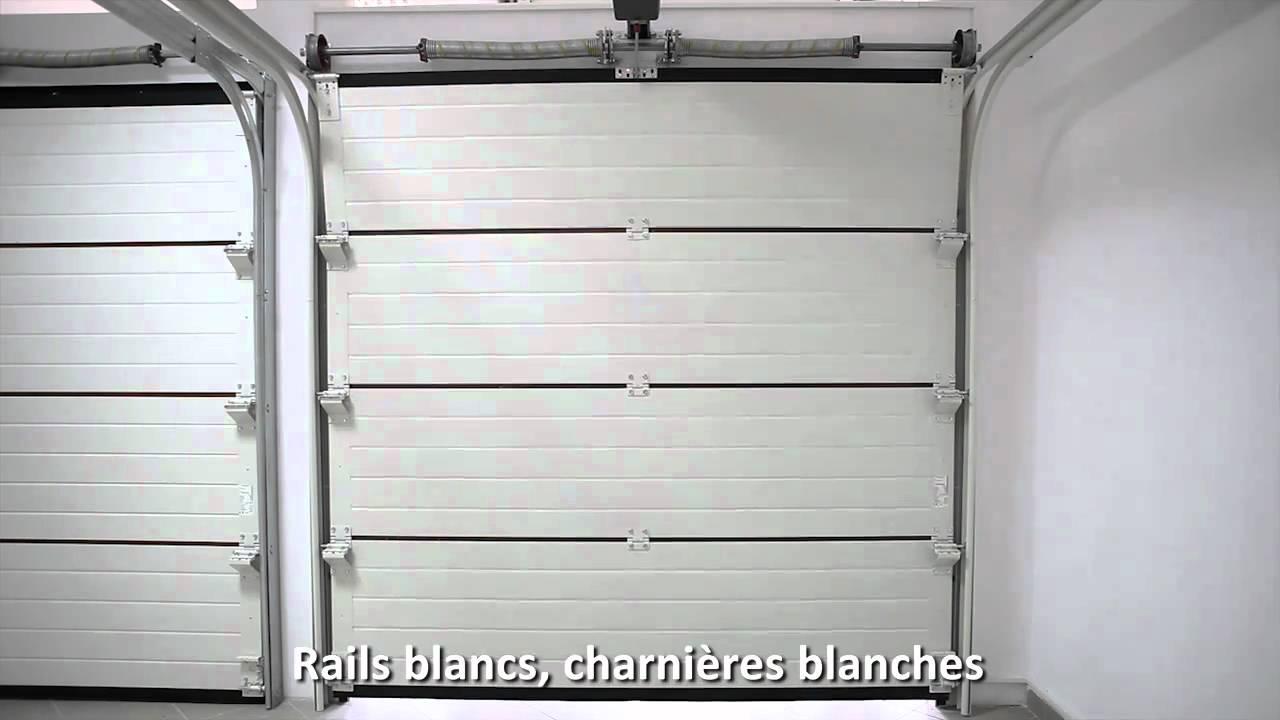 03 porte sectionnelle mca de luxe hl bellevue youtube for Porte de garage mca
