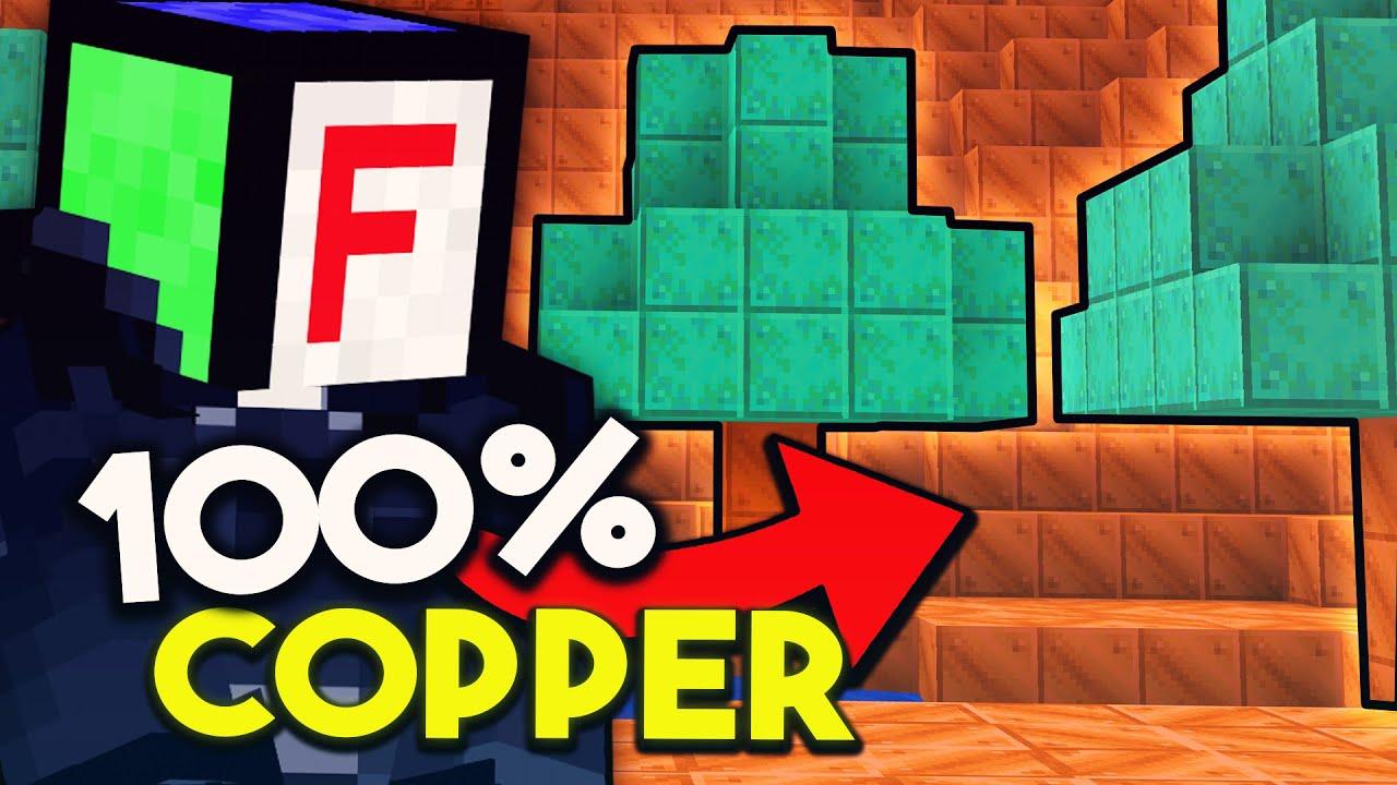 My Minecraft World is 100% Copper