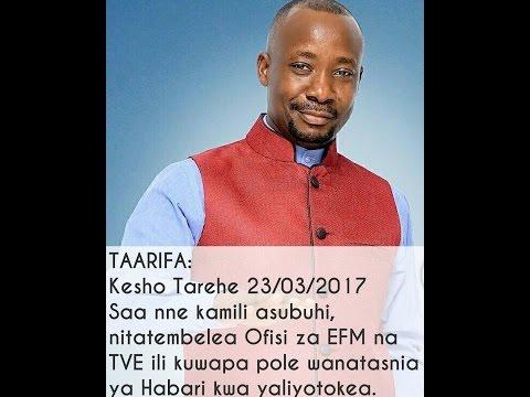 LIVE: ZIARA YA ASKOFU GWAJIMA EFM NA TVE 23/03/2017