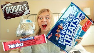 GIANT CANDY VS NORMAL SIZED CANDY! // SoCassie