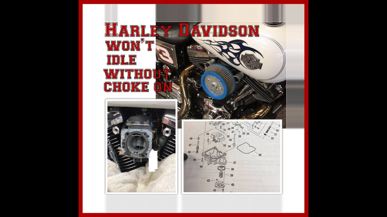 Harley Davidson won't idle without choke on - Problem FIXED