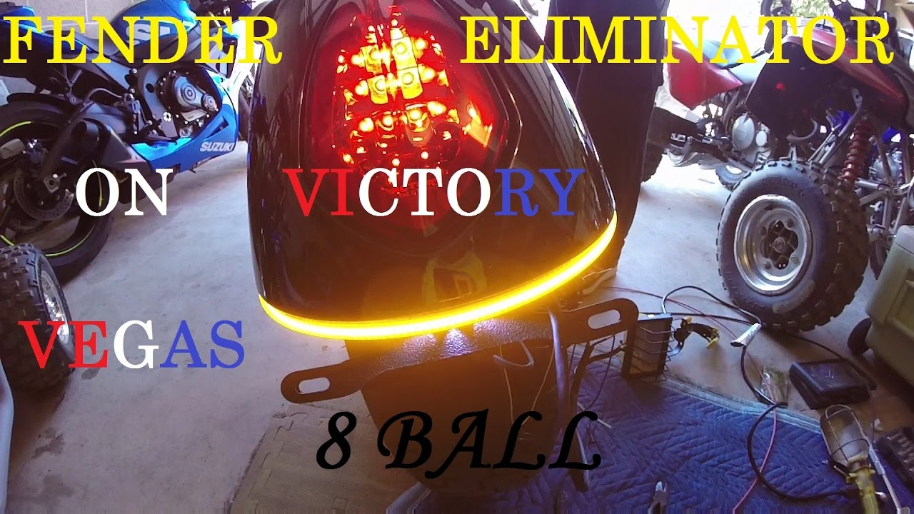 How To Install Fender Eliminator For Victory Vegas 8 Ball 2011 Youtube Turn Signal Wiring Diagram