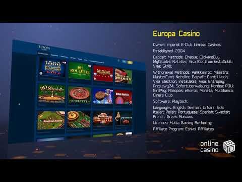 Europa Casino Einzahlung & Auszahlung
