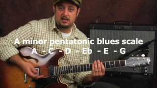 Beginner blues rock guitar soloing practice devices lesson