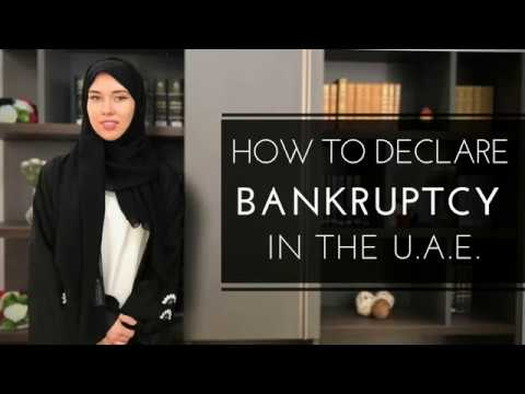 How to declare bankruptcy in the UAE