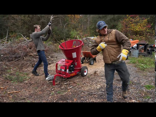 The 4090 Wood Chipper put to the test at Temagami Shores