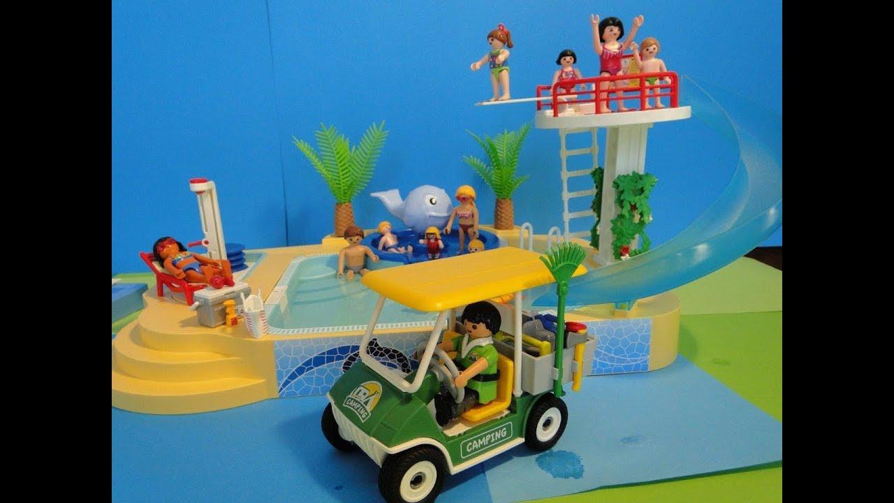 Playmobil 2014 summer fun piscine 5433 pool camping youtube for Piscine playmobil jouet club