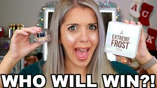 JEFFREE STAR COSMETICS EXTREME FROST VS JACLYN COSMETICS HOLIDAY COLLECTION || WHO WILL WIN?! ||