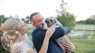 Bride Surprises Groom with English Bulldog!   Ohio Wedding