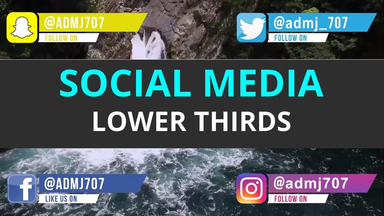 Free Social Media Lower Third Animation Pack After Effects