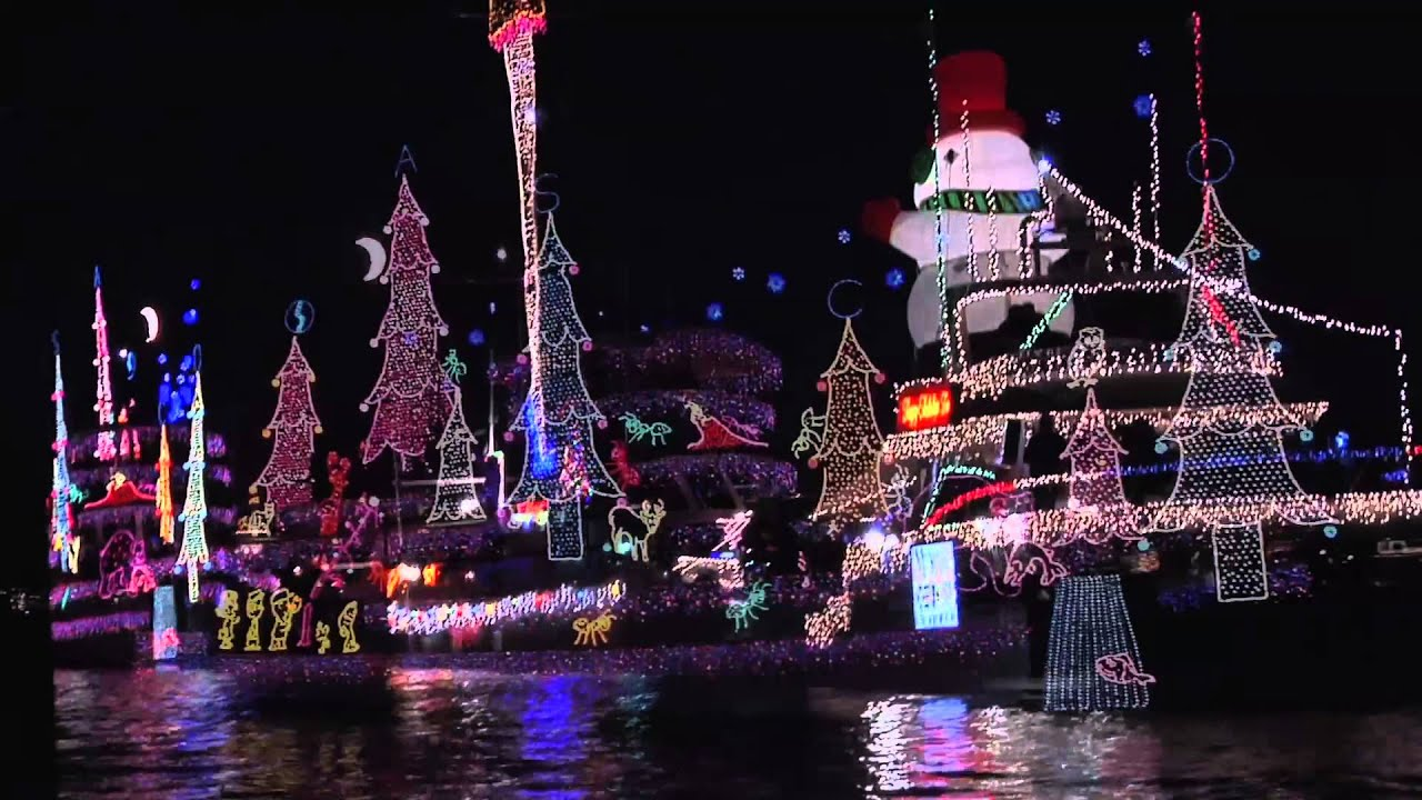 Newport Beach Christmas Boat Parade Boat Rentals Youtube