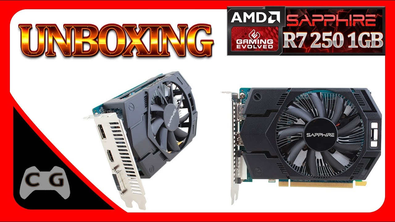 Unboxing Placa de Vídeo (VGA) Amd Radeon R7 250 1GB GDDR5