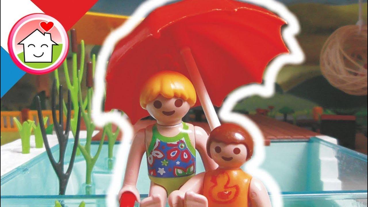 Playmobil en fran ais la piscine la famille hauser for Playmobil la piscine