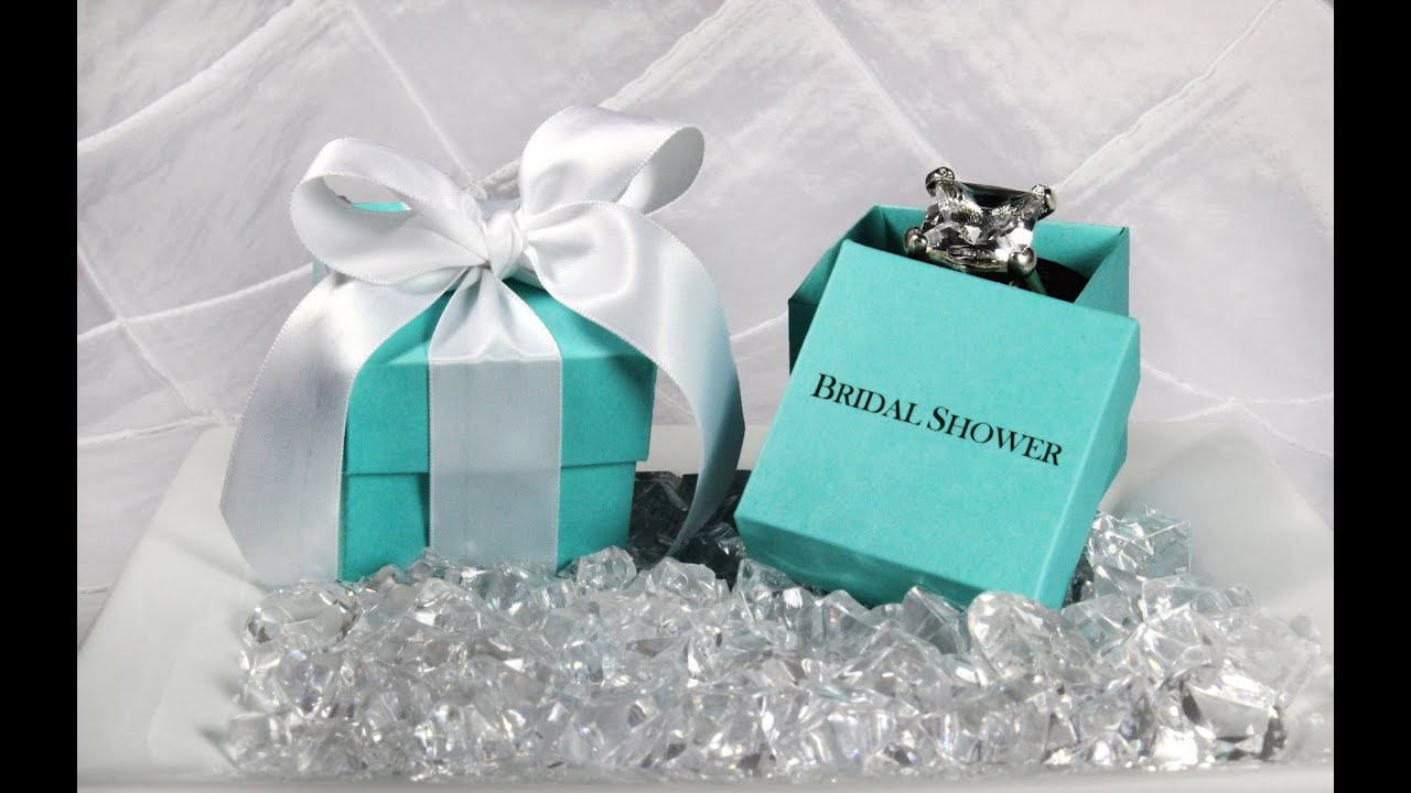 Breakfast At Tiffany Wedding Favor Box How To Emble Two Piece Diy Tutorial You