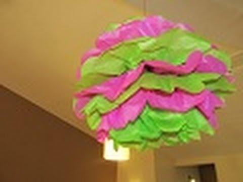 Como hacer pompones de papel decorativos para todo tipo - Como hacer cadenetas de papel para fiestas ...