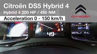 Citroën DS5 Hybrid 4 Acceleration 0 - 150 km/h and Fuel Consumption