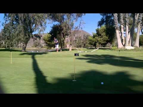 45ft chip shot at Oceanside Country Club
