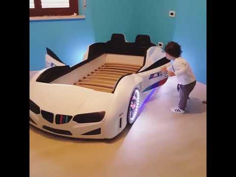 Car bed for boys - BMW kids bed - plastic children bed