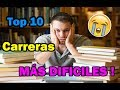Top 10 Most Difficult UNIVERSITY Careers in the World 2017 | Curious fact