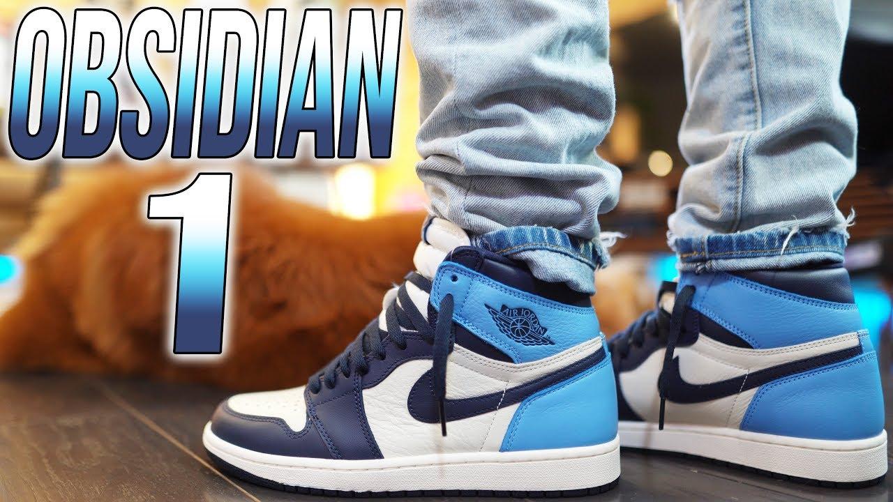 2019 Air Jordan 1 Obsidian University Blue Review On Foot