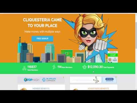 شرح موقع Cliquesteria للربح من الانترنت
