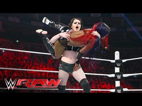 Natalya, Sasha Banks, Becky Lynch & Paige vs Charlotte, Naomi, Tamina & Summer Rae:Raw, Apr 18, 2016