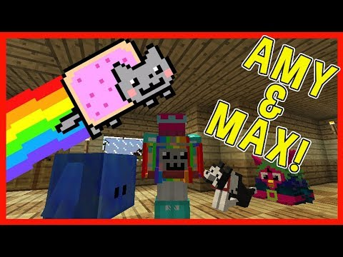 Amy & Max! Ep.27 NYAN CAT BACKPACK! | Minecraft | Amy Lee33