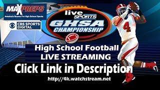 12/11/2018 GHSA 5A Football Championship | Warner Robins vs Bainbridge | Live Stream