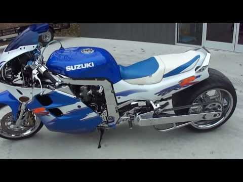 1994 GSXR 1100 with C and S Custom 360 Wide Tire Kit (Motorcycle Video)