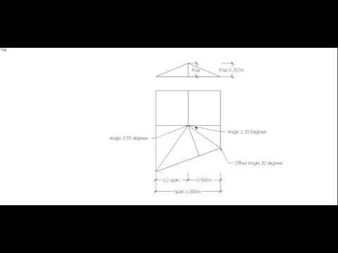 Oblique End Hip Roof Bevels, Steel Square Method.