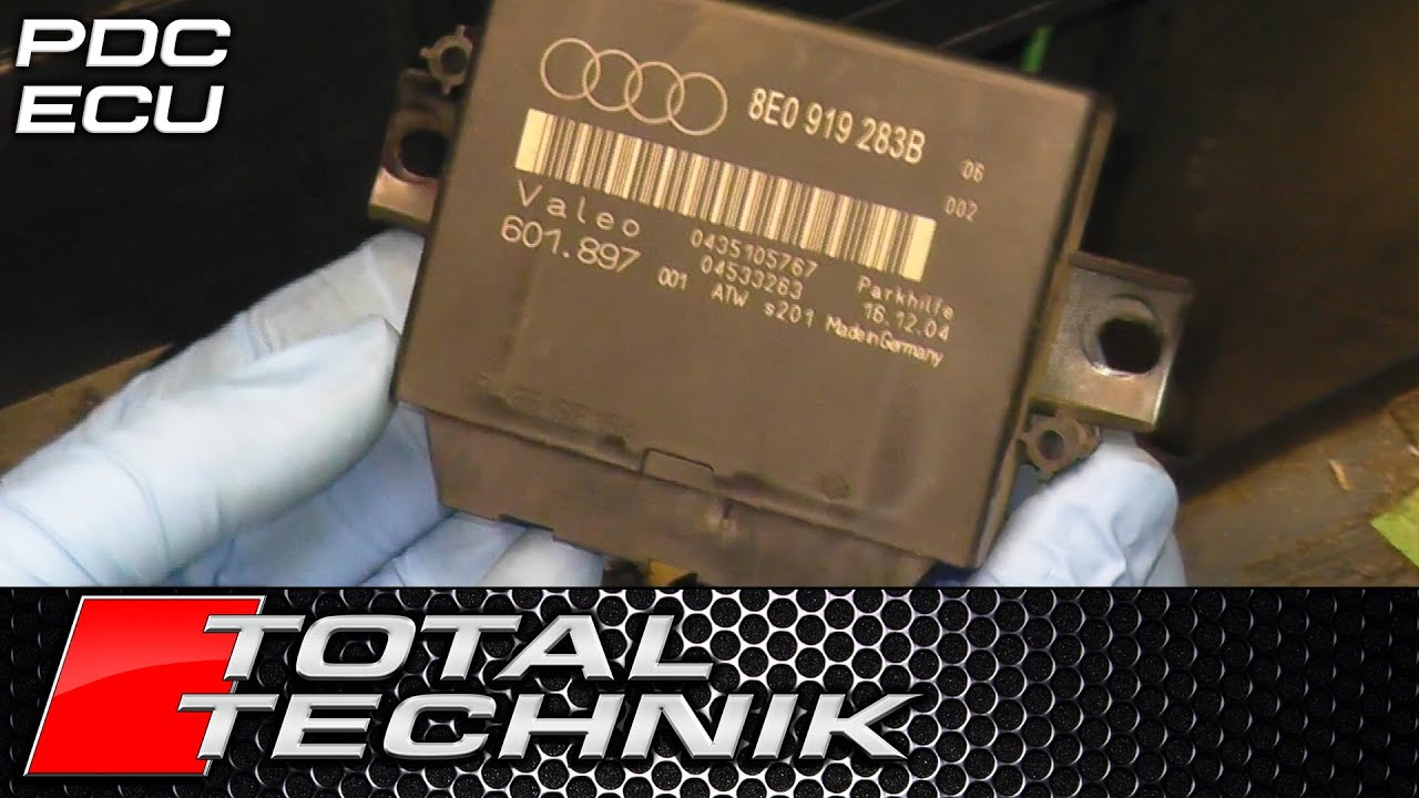 How To Remove Rear Parking Sensor Ecu Control Module Audi A4 S4 B7 Rs4 Fuse Box B6 2001 2008