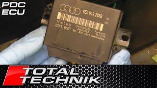 How to Remove Rear Parking Sensor ECU Control Module - Audi A4 S4 RS4 - B6 B7 - 2001-2008