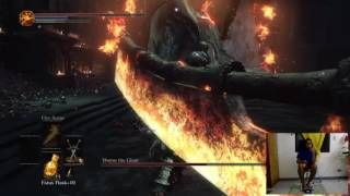 Beating Dark Souls III Bosses with Feet Playing Part 4