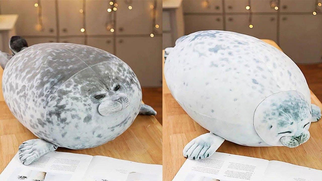seal pillows review 2020 fluffy plush seal pillow