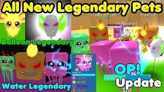Update! Got All New Legendary Pets! Shiny Jelly Fish & Shiny Balloon Phoenix - Bubble Gum Simulator