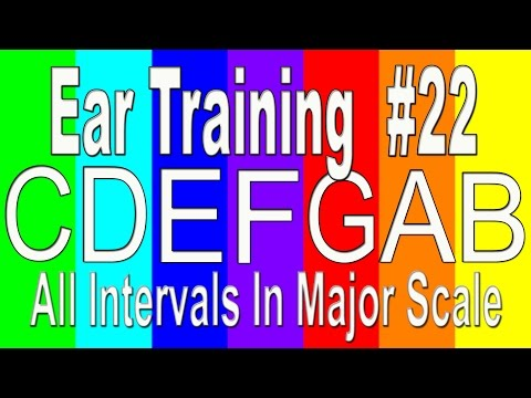 22 levels of music ear: Test your level of Relative Pitch   Major Scale All Intervals #22