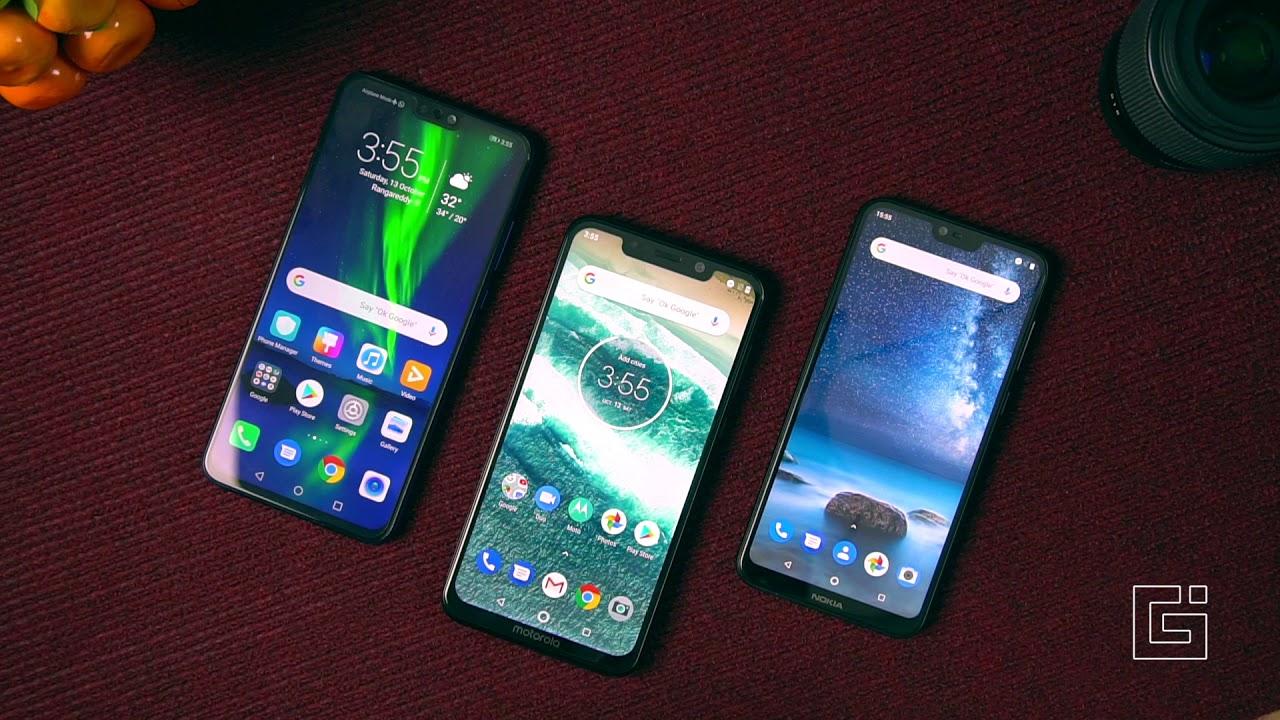 Honor 8X vs Motorola One Power vs Nokia 6 1 Plus Comparison - Specs,  Camera, Performance