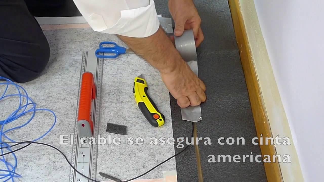 Ejemplo de instalaci n de suelo radiante el ctrico para - Suelo radiante parquet ...