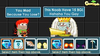 Noob Showed 1500 DLS in SHOW BATTLE (FUNNY) GROWTOPIA