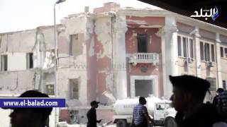 بالفيديو والصور..الأدلة الجنائية:السيارة المستخدمة في تفجير القنصلية الإيطالية نفس نوع المركبة التي استهدفت النائب العام