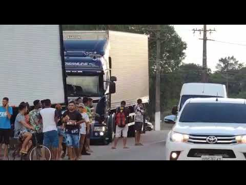 Chorão saindo do encontro em Santa Izabel do Pará