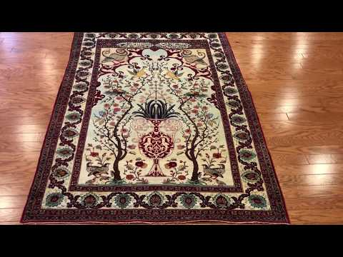 Luxurious Lavar & Kerman Antique Persian Rug (6.6' X 4.8')