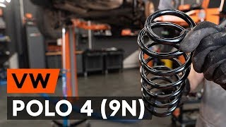 How to replace rear springs / rear coil springs on VW POLO 4 (9N) [TUTORIAL AUTODOC]