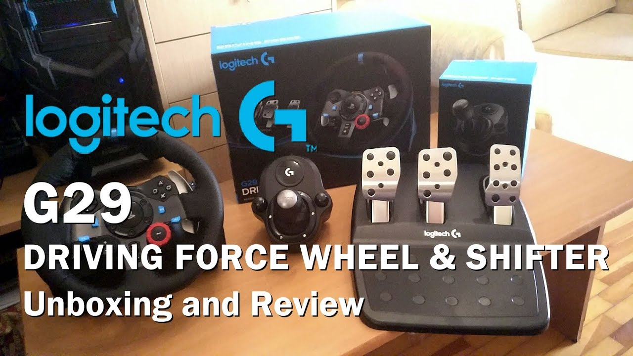 1bc6dbcdfa7 Logitech G29 Driving Force Wheel + Shifter Unboxing and Review (PS4/PS3/PC)