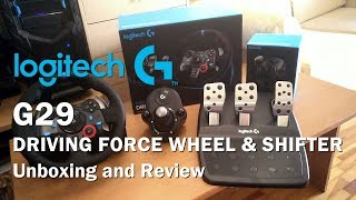 Logitech G29 Driving Force Wheel + Shifter Unboxing and Review (PS4/PS3/PC)