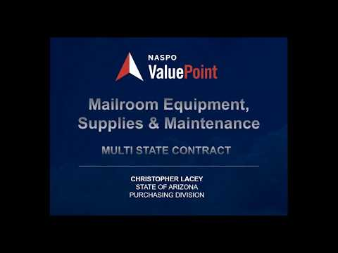 Mail Room Equipment State Rollout Webinar