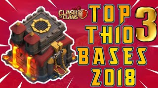 NEW TOP 3 TOWN HALL 10 TROPHY/FARMING BASE 2018! TH10 HYBRID DARK BASE UPDATE! - CLASH OF CLANS(COC)