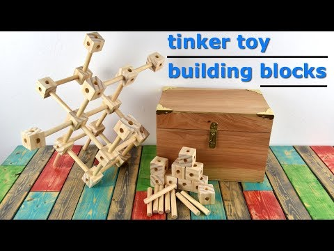 How To Make Homemade Tinker Toys - DIY Gift Idea